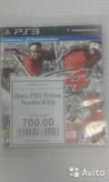 Диск PS3 Virtua Tennis 4 б/у